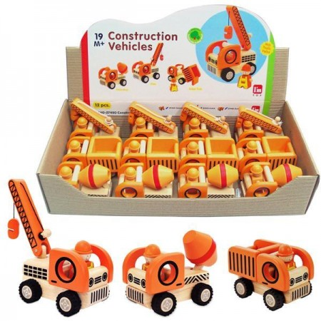 Construction Vehicles in Display Box