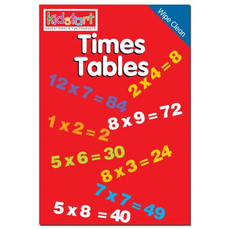 Times Tables Wipe Clean Book cover