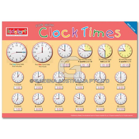 Clock Times Placemat front