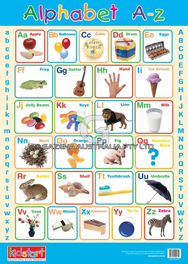 Alphabet & Phonics Educational Wall Charts And Posters - Artiwood