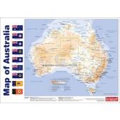 Australia Map & Prime Ministers Chart