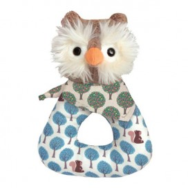 Owl Patterned Rattle