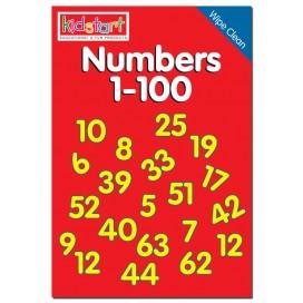 Numbers 1-100 Wipe Clean Book