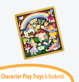 character play trays bookends