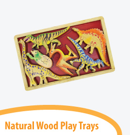 natural play trays