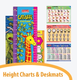 Height Charts & Deskmats
